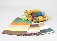 Colorful striped table runners Royalty Free Stock Photography