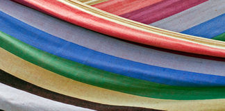 Colorful striped textile Royalty Free Stock Photography