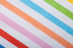 Colorful striped textile as background or texture Royalty Free Stock Photography