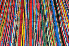 Colorful striped textile pattern Royalty Free Stock Images