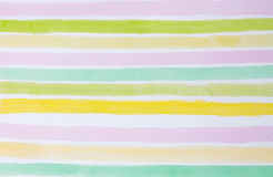 Colorful striped watercolor background. Close up Stock Photography