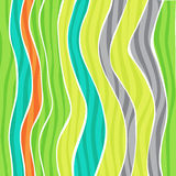 Colorful striped wave background Royalty Free Stock Photography