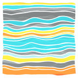 Colorful striped wave background Stock Images