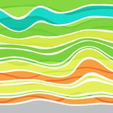 Colorful striped wave background Stock Photo