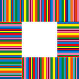 Colorful stripes. In a frame Stock Photos