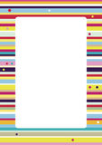 Colorful Stripes Background. A vector cheerful background, easy to change colors. A4 proportions Royalty Free Stock Photo