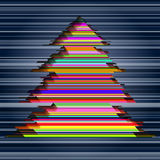 Colorful stripes christmas tree Royalty Free Stock Images