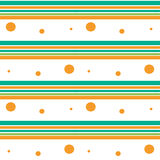 Colorful stripes and circles seamless pattern background illustration Royalty Free Stock Photography