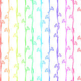 Colorful stripes with flowers seamless background Stock Photography