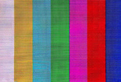 Colorful stripes on lcd screen Royalty Free Stock Photos