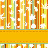 Colorful with stripes & maple leaves. EPS 8 Royalty Free Stock Photography
