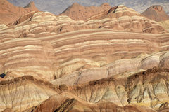 Colorful stripes on the mountains Royalty Free Stock Photos