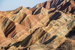Colorful stripes on the mountains Royalty Free Stock Photography