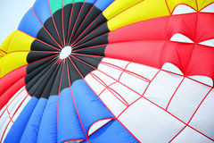 Colorful stripes of parachute. Stock Photography
