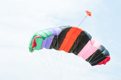 Colorful stripes of parachute Royalty Free Stock Images