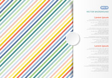 Colorful stripes pattern oblique lines, Copy space to put the te. Xt for print, ad, poster, brochure, leaflet, flyer, magazine vector illustration