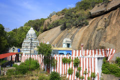 Colorful Stripes to an Indian Hindu Temple Royalty Free Stock Images