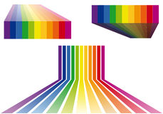 Colorful stripes vector backgrounds Royalty Free Stock Images