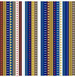 Colorful stripey seamless pattern Stock Image