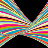 Colorful strips. On black background Stock Photos