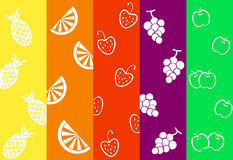 Colorful strips with fruits,  illustrations Stock Image