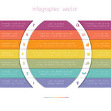 Colorful Strips and White Semicircles for Text 7 Stock Images