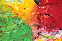 Colorful strokes of paint Royalty Free Stock Photos