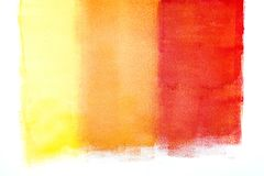 Colorful strokes by paint roller on the wall Royalty Free Stock Photos