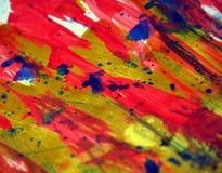 Colorful strong vivid energetic spots texture paint watercolor spots Stock Photo