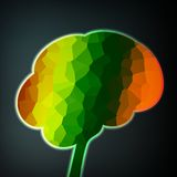 Colorful structure in the form of brain Stock Photography