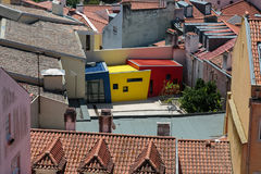Colorful Structure among Roofs in Lisbona, Portugal Royalty Free Stock Photos