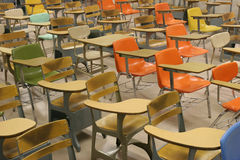 Colorful Student Desks Stock Photos