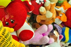 Colorful stuffed animal toys Stock Image