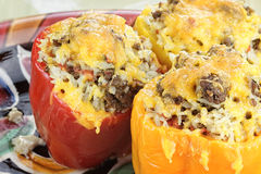 Colorful Stuffed Bell Peppers Royalty Free Stock Photography