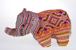 Colorful stuffed Elephant Royalty Free Stock Photography