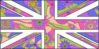 Colorful stylezed UK flag Stock Images
