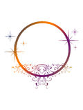 Colorful stylish circular frame Royalty Free Stock Images