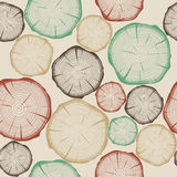 Colorful stylish cut log butt seamless background Stock Images