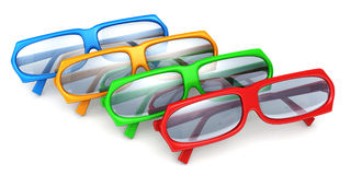 Colorful stylish modern glasses on white Stock Image