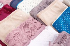 Panties. Colorful stylish panties closeup picture Royalty Free Stock Photos