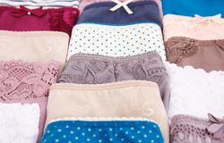 Panties. Colorful stylish panties closeup picture Stock Photography