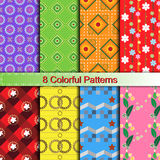 Colorful stylish pattern collection Royalty Free Stock Image