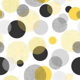 Colorful stylish seamless pattern. Abstract circles background.  Stock Photos