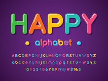 Happy font royalty free illustration
