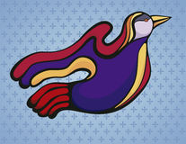 Colorful stylized bird, Stock Photography