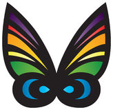 Colorful Stylized Butterfly. With a rainbow of colors Stock Images