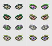 Colorful stylized eyes Stock Photo