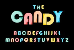 Colorful stylized font stock illustration