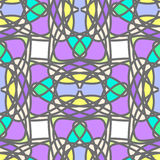 Colorful stylized mosaic seamless pattern Royalty Free Stock Photo