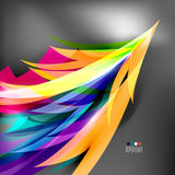 Colorful stylized parrot tail modern background Stock Image